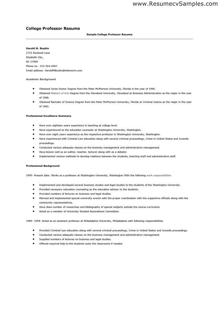 College Resumes. Job Resumes Samples Sample Resume Student Sample ...