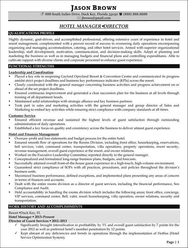 Cover letter for hotel general manager position : Hotel General ...