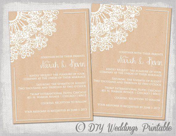 Free Rustic Wedding Invitation Templates – gangcraft.net