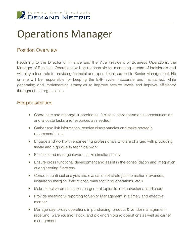 Warehouse Manager Job Description. Ups Resume On Cracks And Screw ...