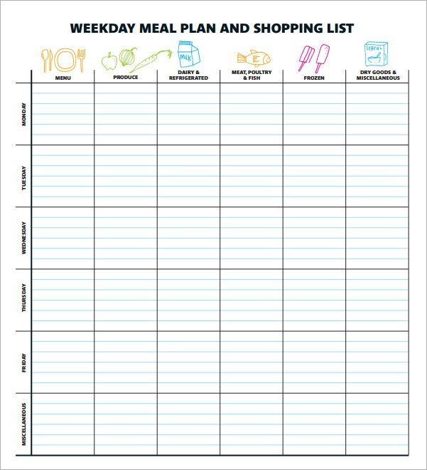 Lovely Sample Meal Planning Template   15+Download Free Documents In PDF .
