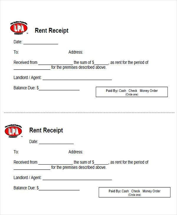 6+ Sample Rent Payment Receipts - Free Sample, Example, Format ...