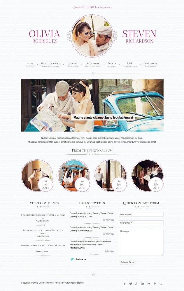 34+ Best Wedding WordPress Themes 2017 - aThemes