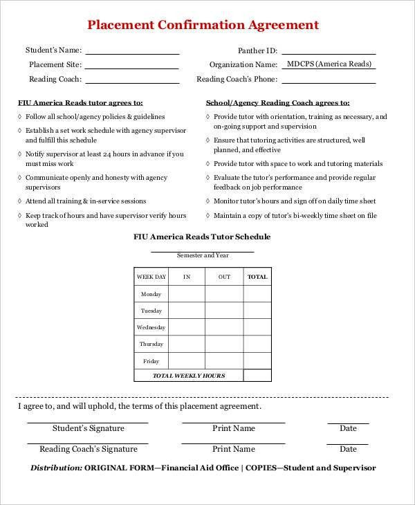 Confirmation Agreement Templates - 8+ Free Word, PDF Format ...