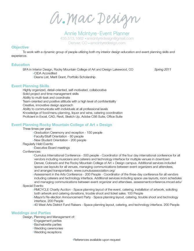 event planner resume | Event Planner Resume: Career transition ...