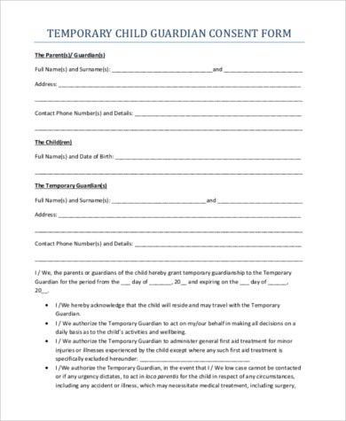 Free Child Travel Consent Form Template | Examples.billybullock.us