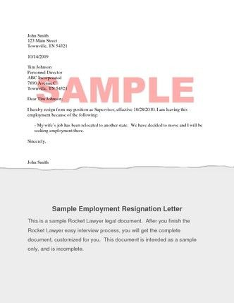 Resignation Letter Probation Period Sample Resignation Letter .