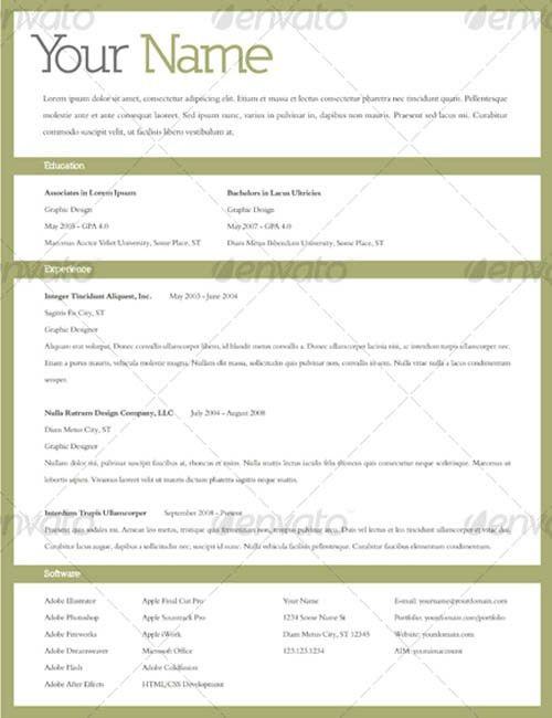 outstanding resume templates download - Gfyork.com