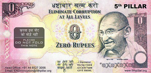Zero rupee note - Wikipedia