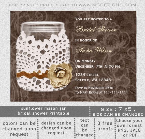 Rustic Wedding Shower Invitations Template | Best Template Collection