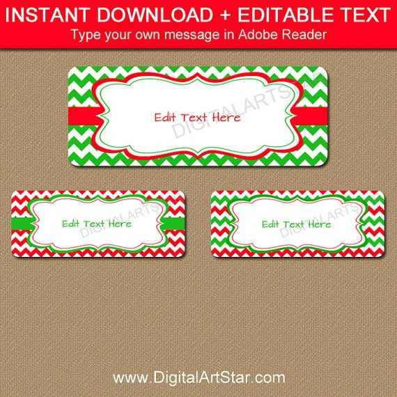 Printable Christmas Address Labels EDITABLE Holiday Address