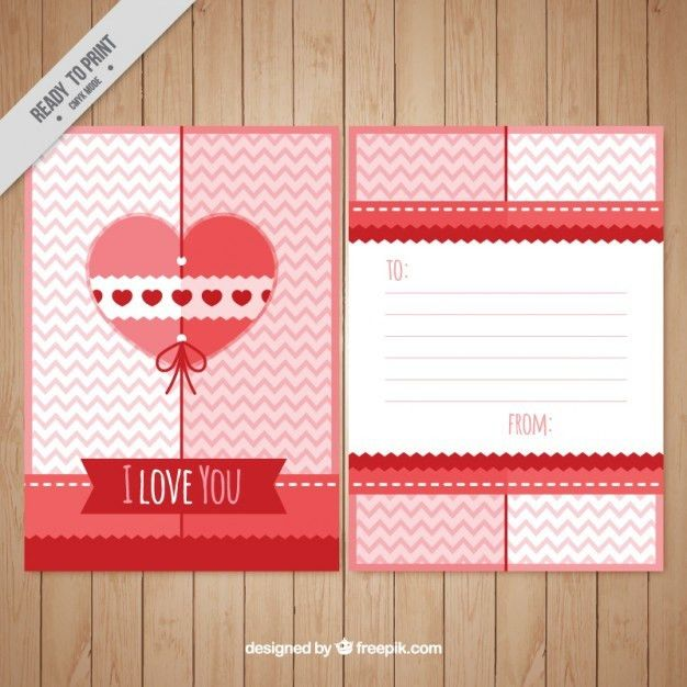 Cute love letter template Vector | Free Download