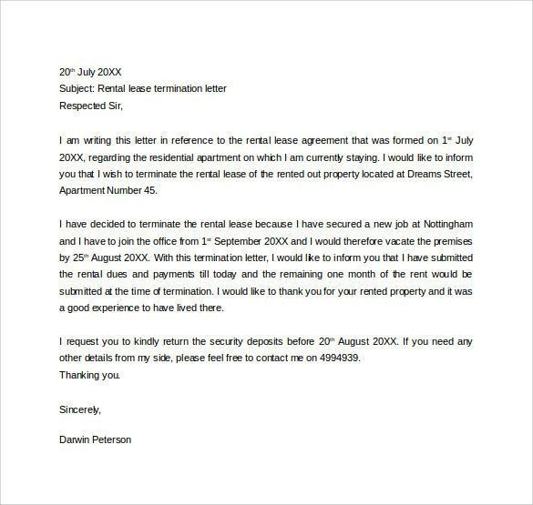 Lease Termination Letter. Termination Letter Template 05 35 ...
