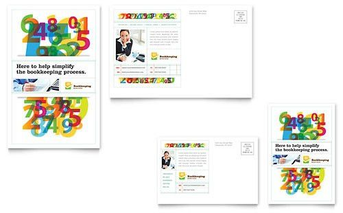 Financial Services - Postcard Templates - Word & Publisher