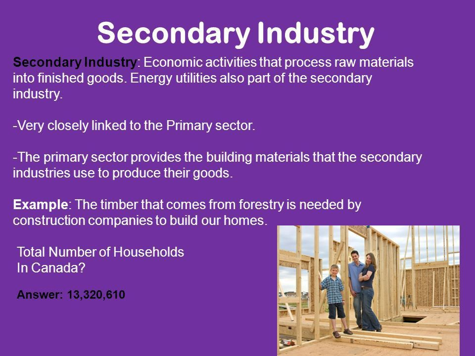 Secondary Industry In Atlantic Canada March 31th, ppt download
