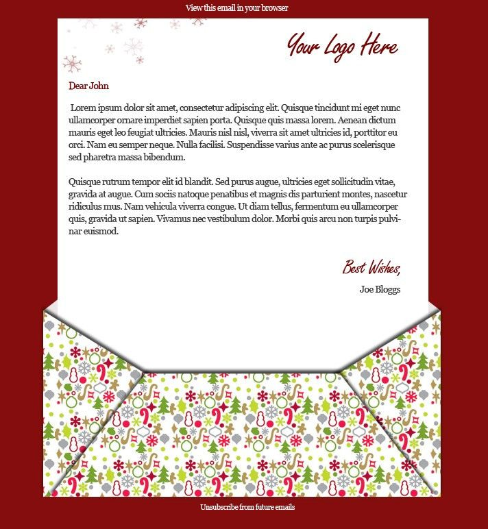 2 Free Xmas Email Templates - Wired Marketing