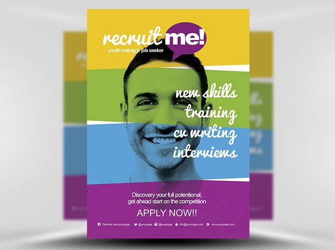 Creative Recruitment Flyer Template - FlyerHeroes