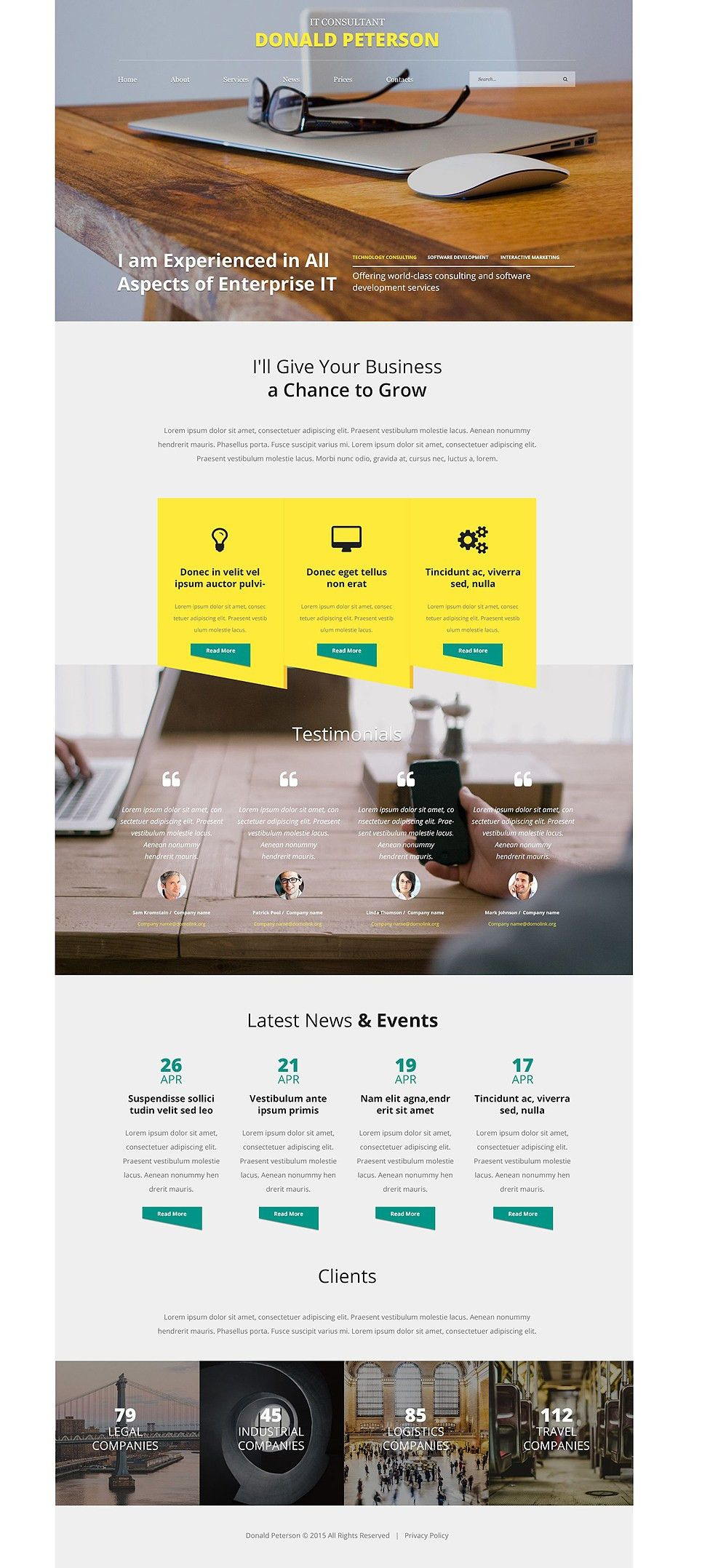 IT Consulting Web Template