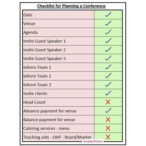 Free Checklist for Planning a Conference