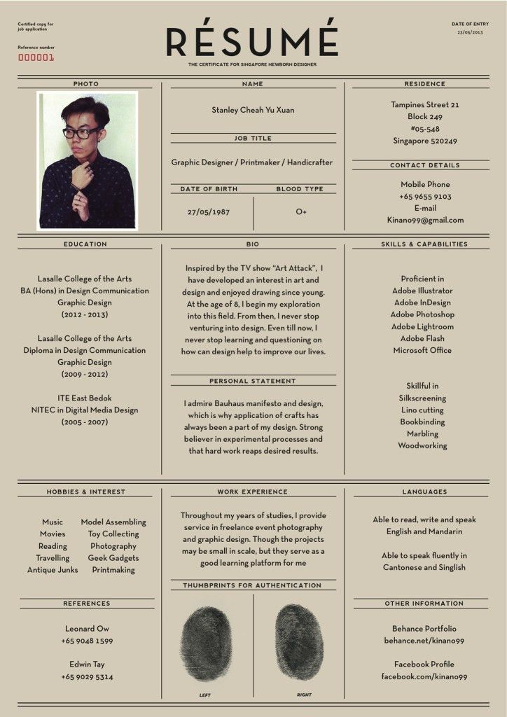 Well-Designed Resume Examples For Your Inspiration