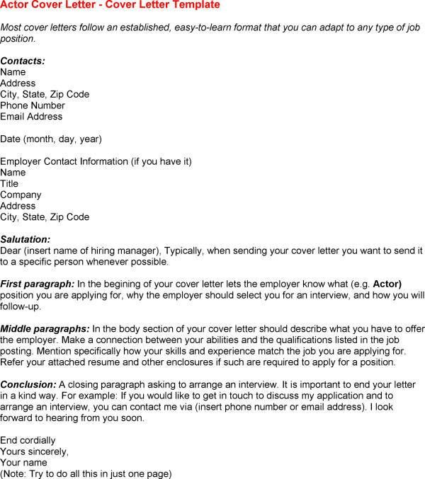 Cover letter agency example