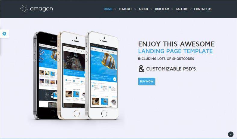 12+ Popular Bootstrap Landing Page Templates | Free & Premium ...