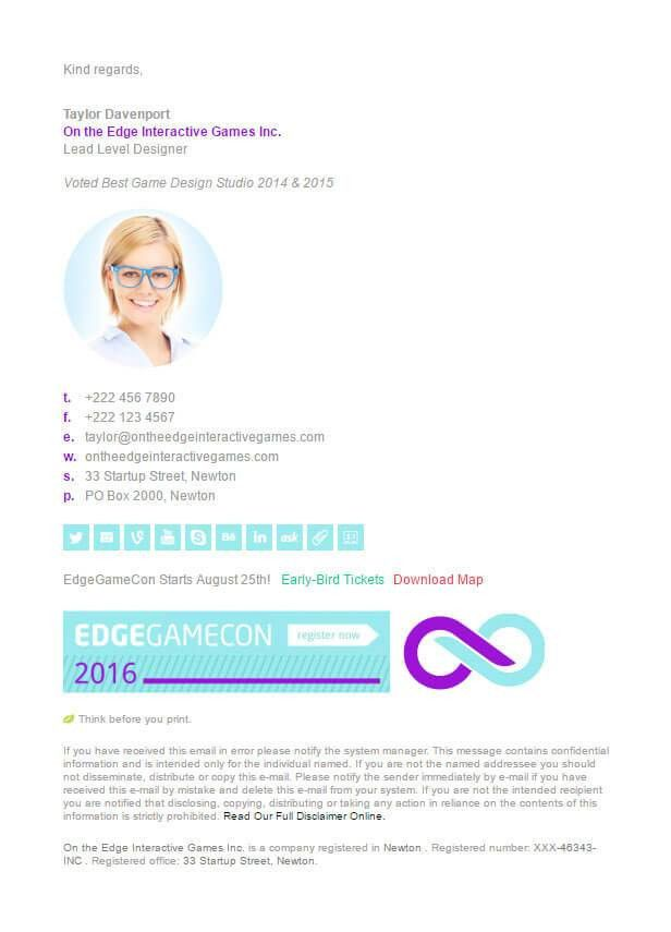 Corporate Email Signature Template | Download & Install Today
