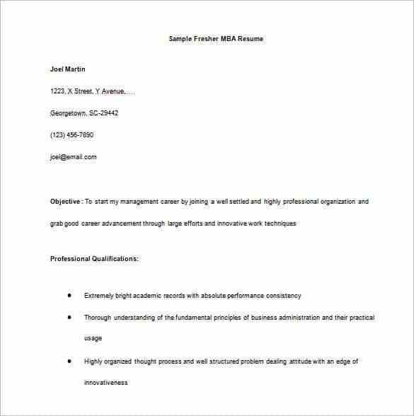 Download Resume For Freshers | haadyaooverbayresort.com