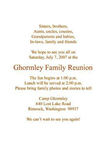 108 best Family Reunion images on Pinterest | Family reunions ...