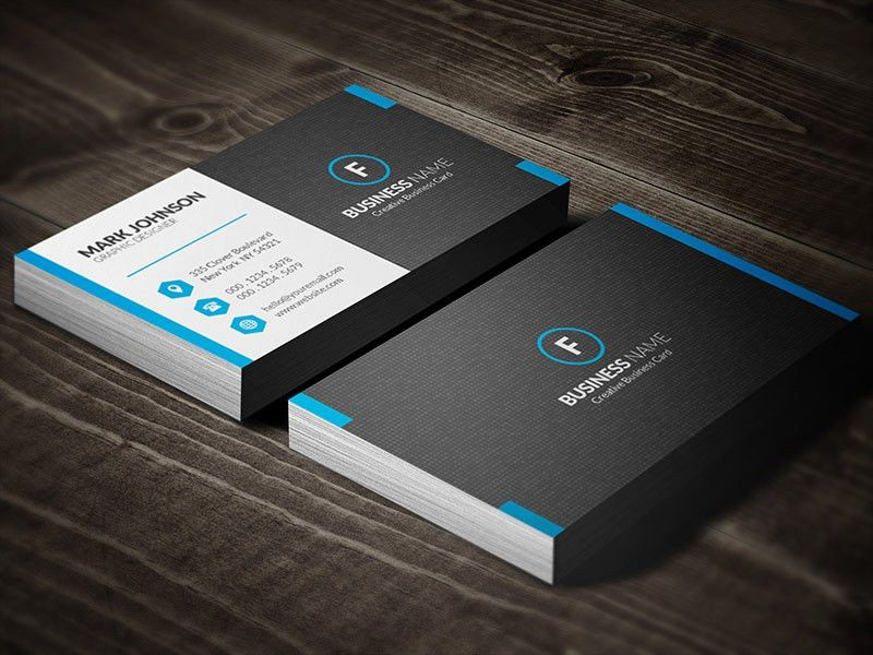 Dark Mosaic Professional Business Card Template » Free Download ...