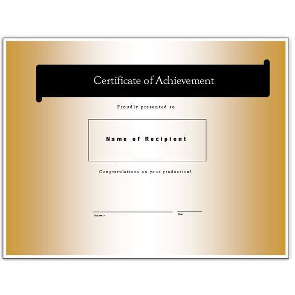 Congratulatory Graduation Certificates: Free Downloads for MS Word ...