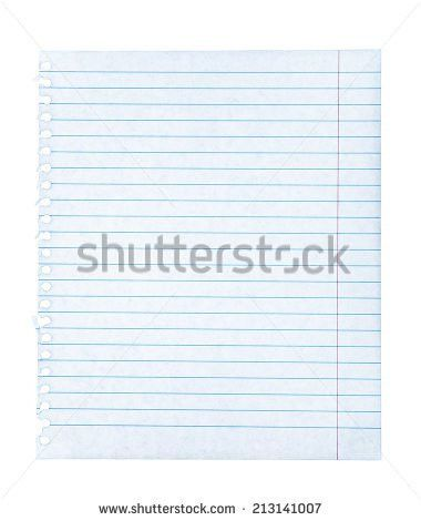 Blue Ruled Lined Blank Paper Pencil Stock Vector 52567222 ...