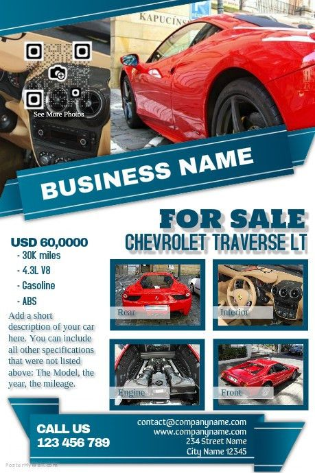 Light colored car dealership flyer http://www.postermywall.com ...
