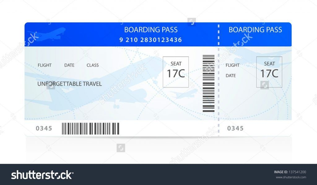 Airline Ticket Template Word Free Download Brochure Templates For ...