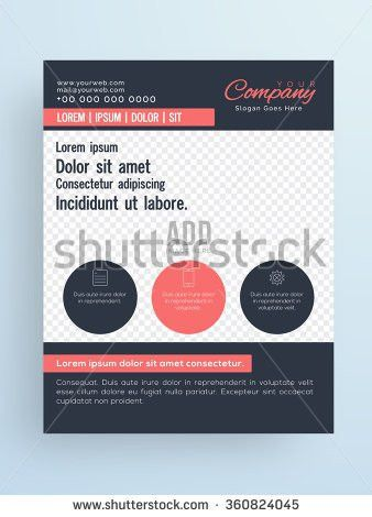 Stylish One Page Flyer Banner Brochure Stock Vector 360824045 ...