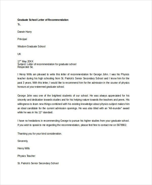 Sample Letter of Recommendation - 20+ Free Documents Download in ...