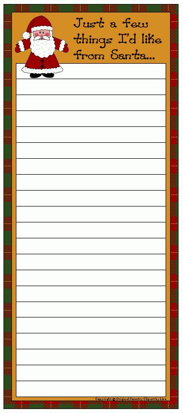 Free Shopping Lists to Print