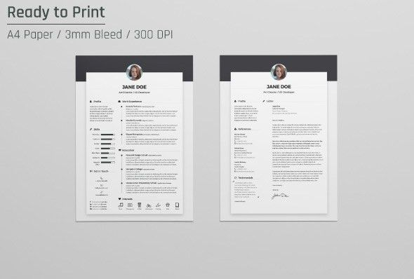 Free Resume CV Design Template & Cover Letter In DOC, PSD, AI ...