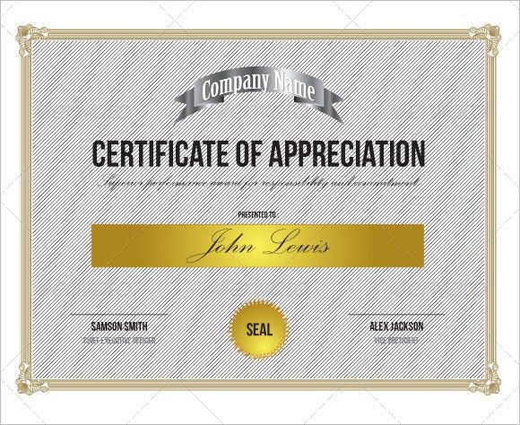 Importance of Certificate of appreciation Archives - Word Templates