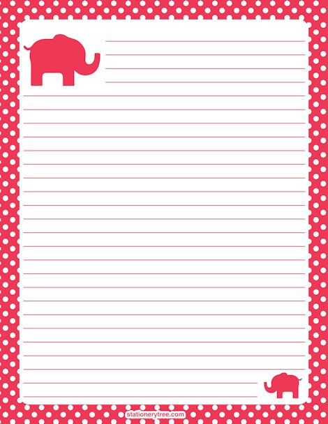 Free Printable Stationery and Writing Paper | PAGE 3