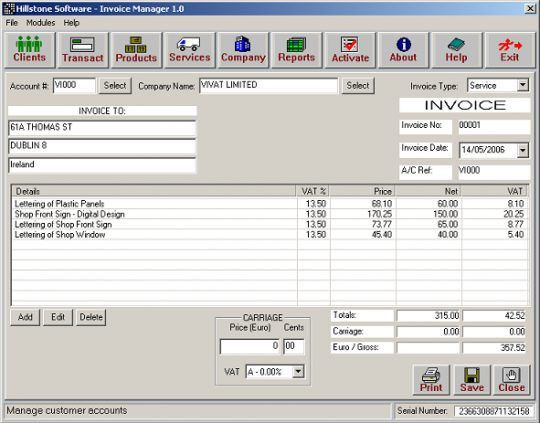 Free Invoice Software | Free Invoice Template