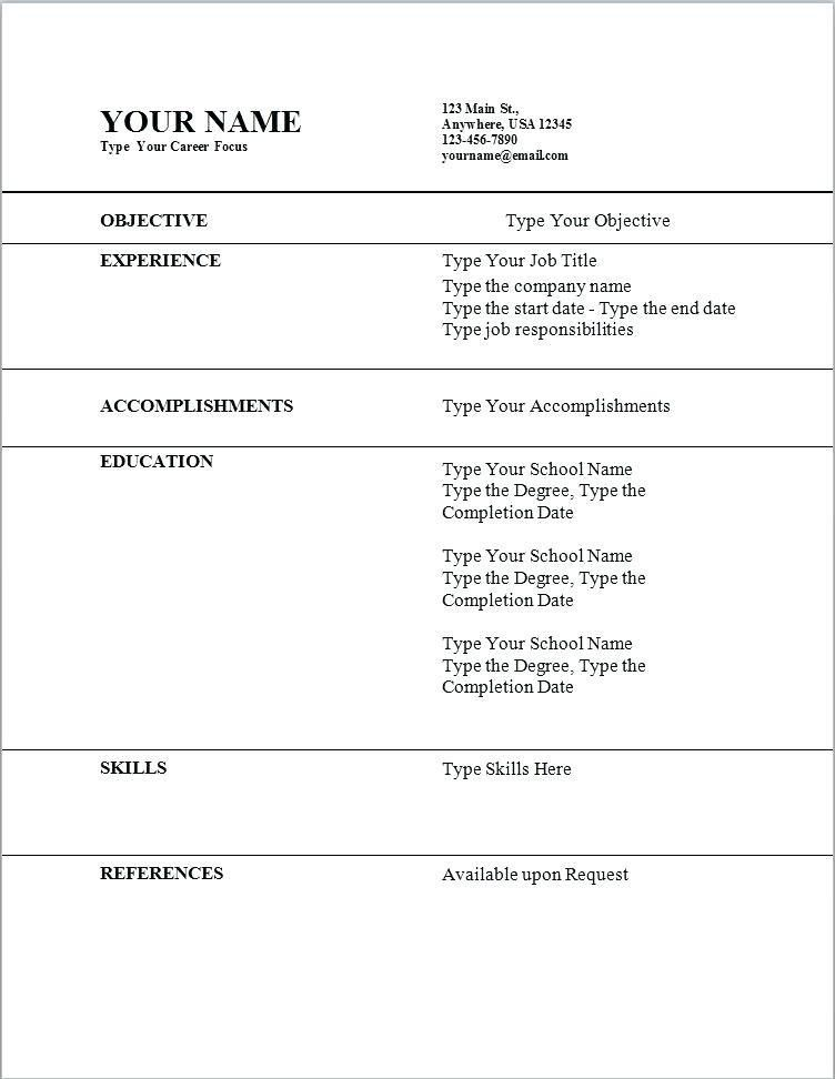 Resume Template Mac Textedit - Contegri.com