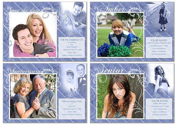 FREE Invitation Template Photoshop or Photoshop Elements