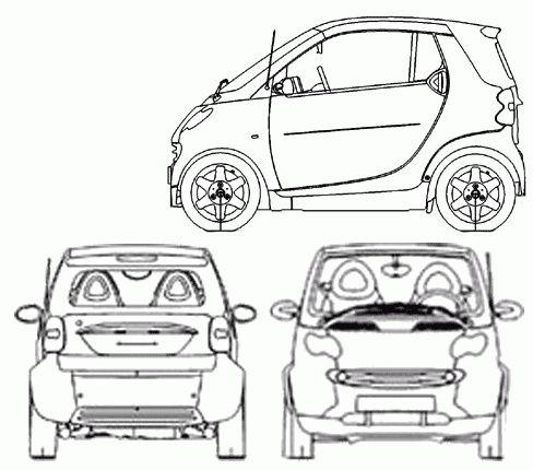 Car Blueprints / Чертежи автомобилей - Smart
