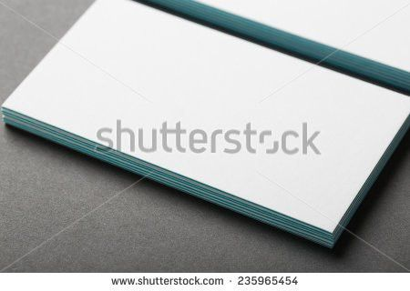 Blank Business Card Invitation On Fork Stock Photo 237623206 ...