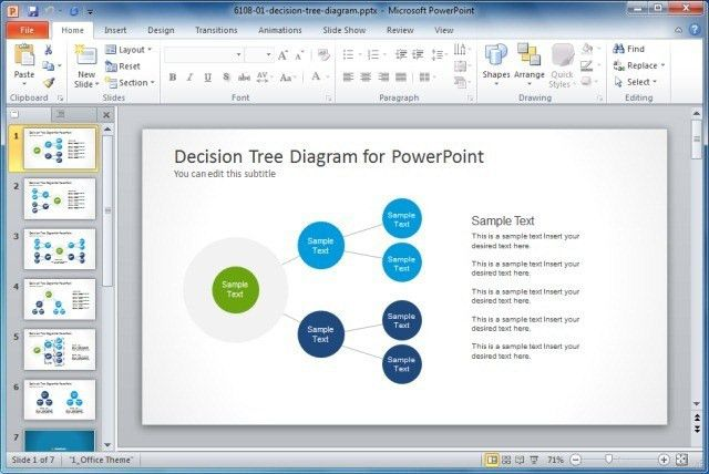 Simple Decision Tree Diagram for PowerPoint - SlideModel