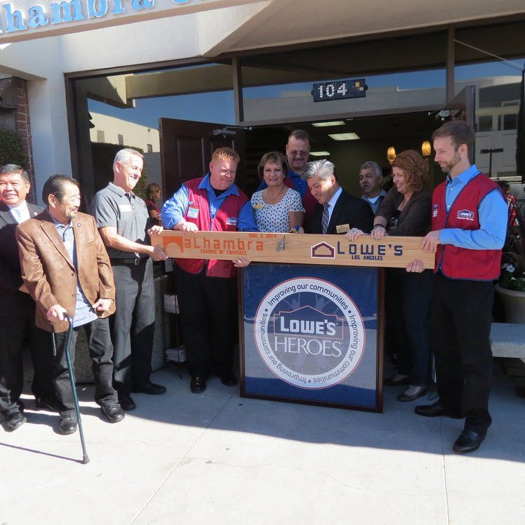 Lowe's Heroes, Alhambra Chamber of Commerce Celebrate Completion ...