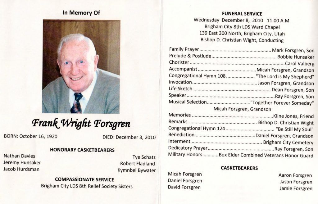 how to make a funeral program in word | Professional Templates