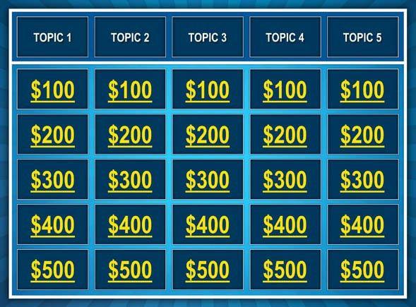5+ Best Jeopardy Templates | Free & Premium Templates