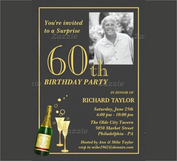 22+ 60th Birthday Invitation Templates – Free Sample, Example ...